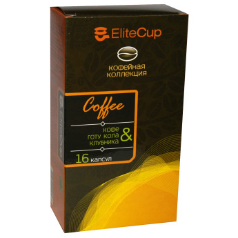 Капсулы EliteCup «Кофе - Готу кола и клубника» (16 шт)